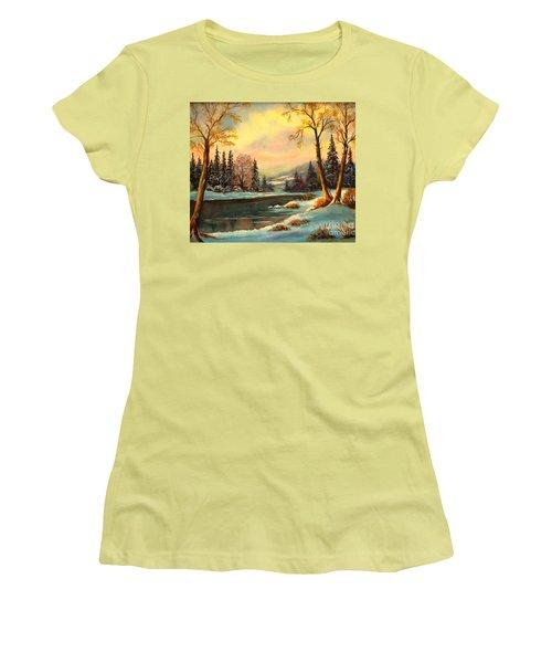 Winter Splendor Women's T-Shirt (Athletic Fit)