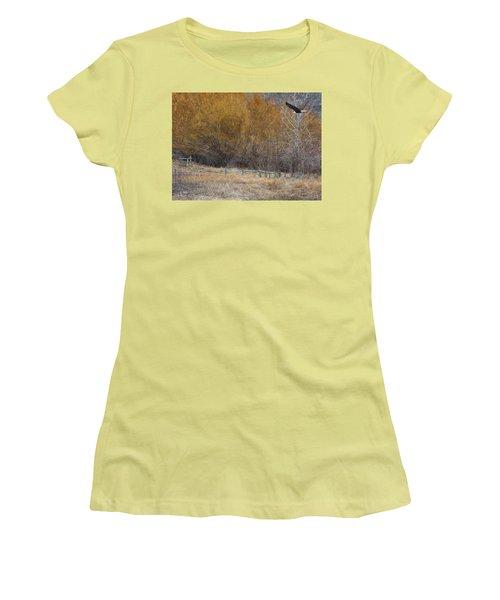 Winter Thaw Women's T-Shirt (Junior Cut) by Ed Hall