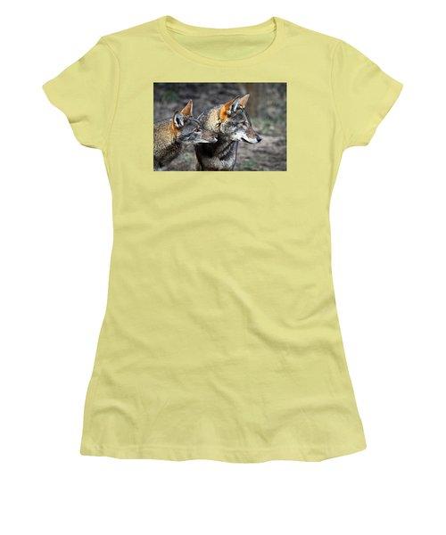 Wolf Alert Women's T-Shirt (Junior Cut) by Steve McKinzie