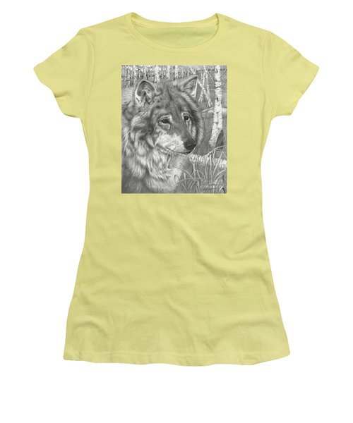 Wolf Gaze Women's T-Shirt (Junior Cut)