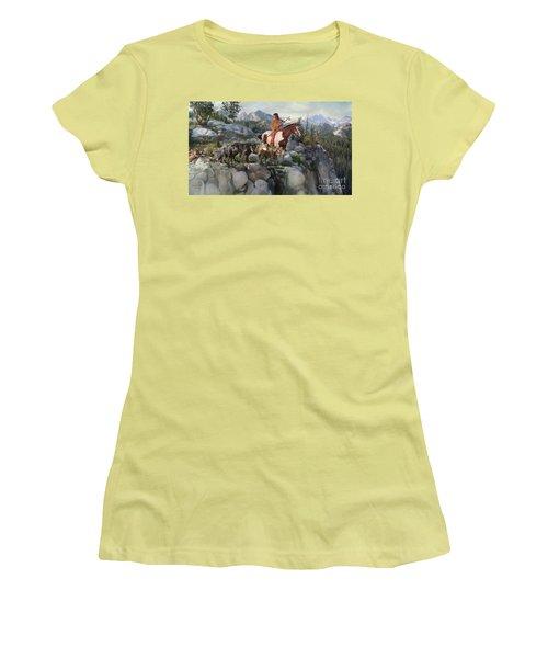 Wolf Maiden Women's T-Shirt (Junior Cut) by Rob Corsetti