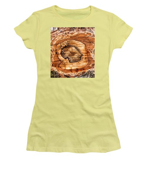Wood Detail Women's T-Shirt (Junior Cut) by Matthias Hauser