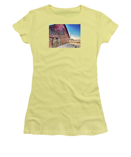 Writing On The Wall Women's T-Shirt (Junior Cut) by Luke Collins