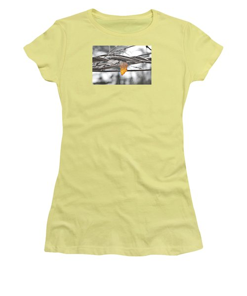 Yellow Leaf Women's T-Shirt (Athletic Fit)