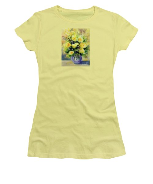 Yellow Roses Women's T-Shirt (Athletic Fit)