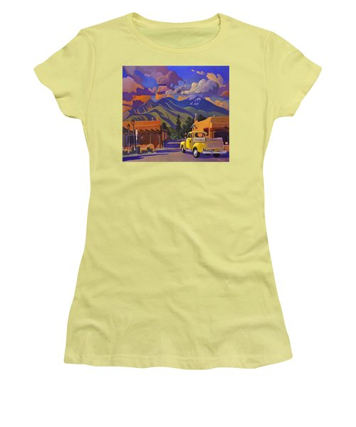 Women's T-Shirt (Junior Cut) featuring the painting Yellow Truck by Art James West