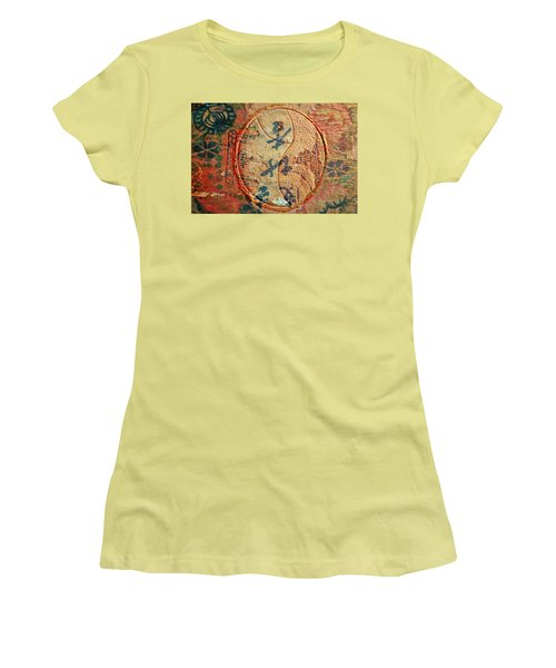 Yin-yang Expressions Women's T-Shirt (Junior Cut) by Ed Hall