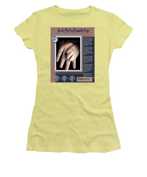 Women's T-Shirt (Junior Cut) featuring the digital art You Are My Hero by Kathy Tarochione