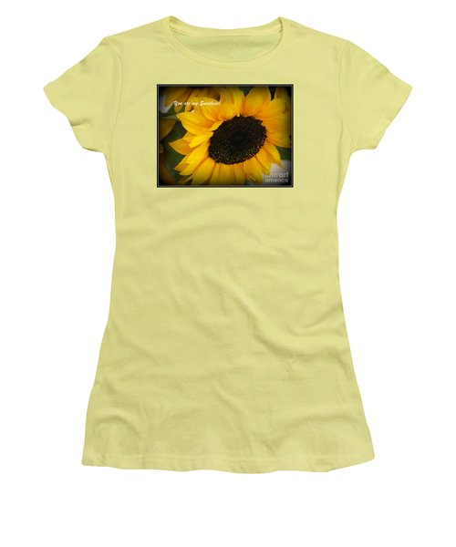 You Are My Sunshine - Greeting Card Women's T-Shirt (Junior Cut) by Dora Sofia Caputo Photographic Art and Design
