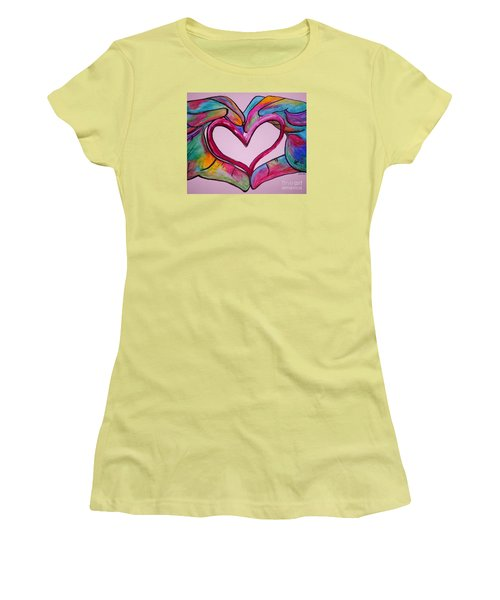 You Hold My Heart In Your Hands Women's T-Shirt (Junior Cut) by Eloise Schneider