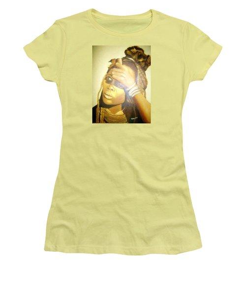 Young Himba Girl - Original Artwork Women's T-Shirt (Athletic Fit)