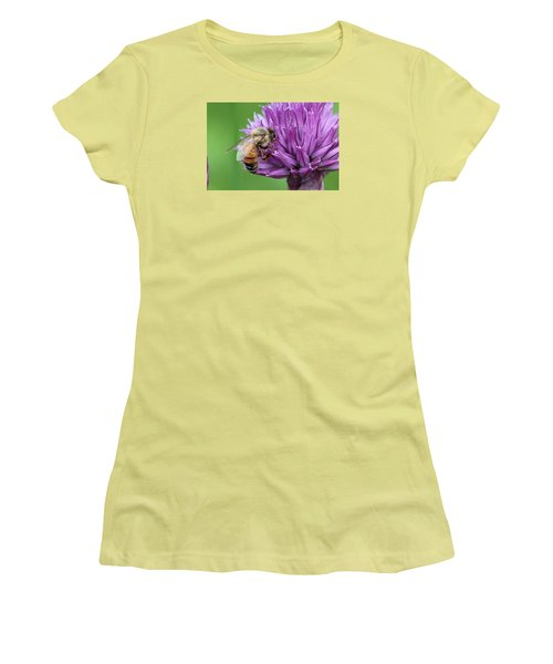 Yummm Chive Nectar Women's T-Shirt (Junior Cut) by Lucinda VanVleck