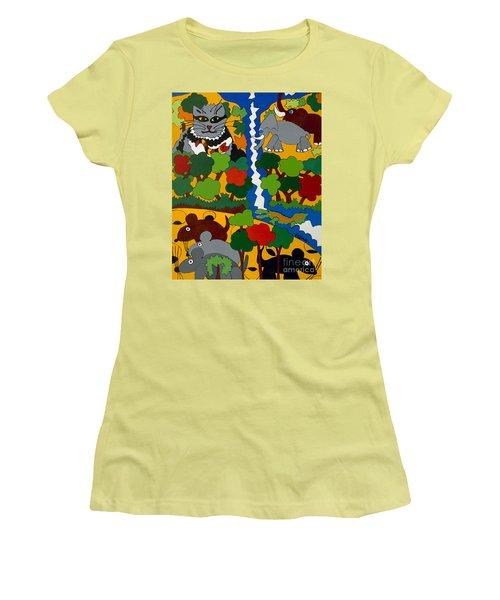 Zane Grey In Africa Women's T-Shirt (Junior Cut) by Rojax Art