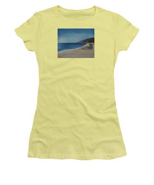 Zuma Lifeguard Tower Women's T-Shirt (Athletic Fit)