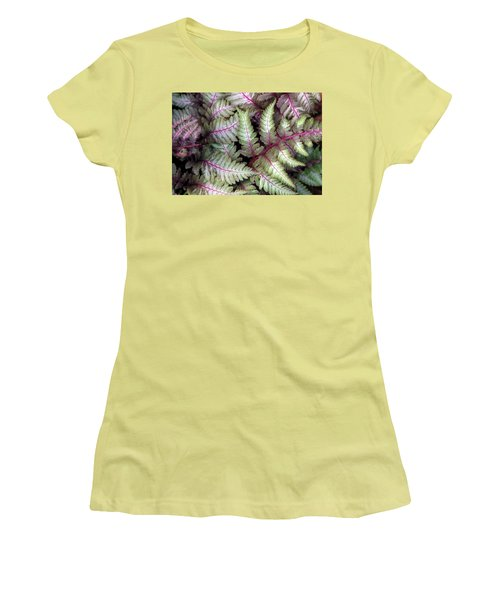 Japanese Painted Fern Women's T-Shirt (Junior Cut) by Chris Anderson