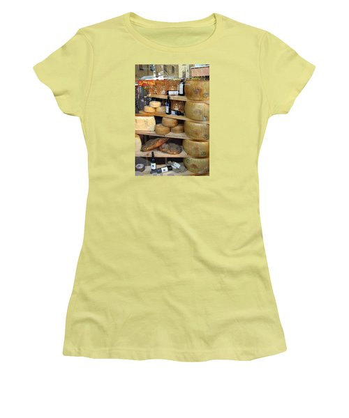 Parmesan Rounds Women's T-Shirt (Junior Cut) by Carla Parris
