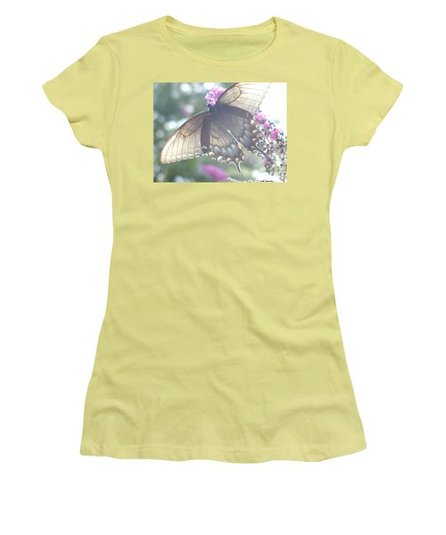 Sheer Butterfly Women's T-Shirt (Athletic Fit)