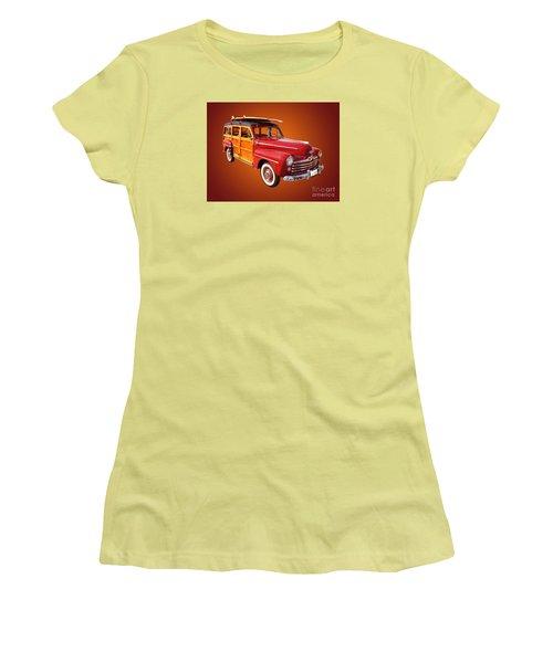 1947 Woody Women's T-Shirt (Junior Cut) by Jim Carrell