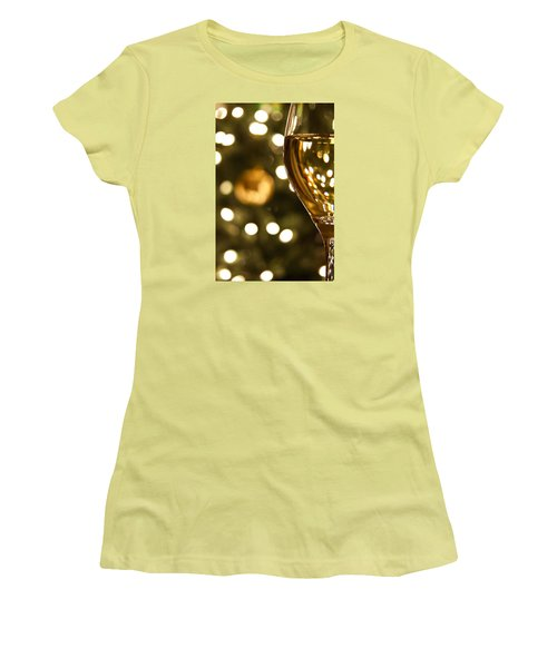 A Drink By The Tree Women's T-Shirt (Junior Cut) by Andrew Soundarajan