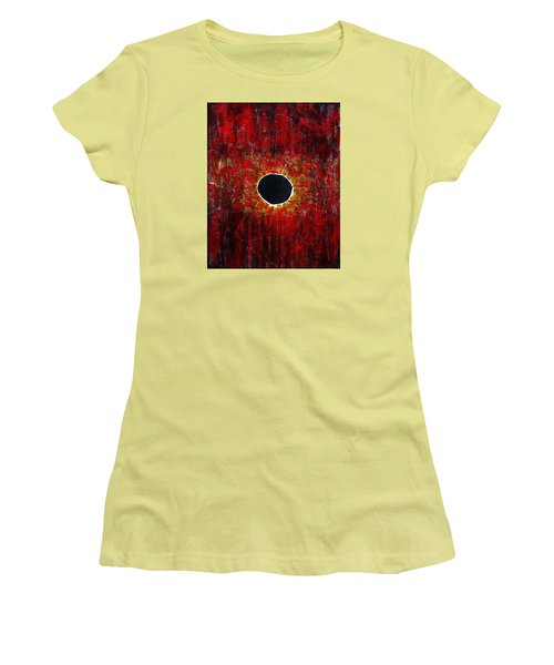 Women's T-Shirt (Junior Cut) featuring the painting A Long Time Coming by Michael Cross