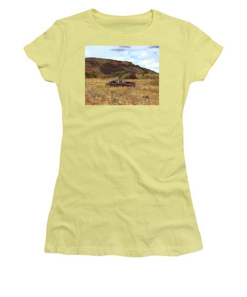 Abandoned Car Women's T-Shirt (Junior Cut) by Steve McKinzie