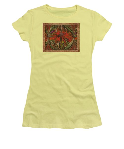 Abstract Flower Women's T-Shirt (Junior Cut) by Smilin Eyes  Treasures