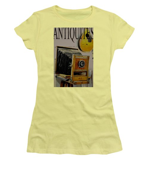 Women's T-Shirt (Junior Cut) featuring the photograph Antiquites by Jan Amiss Photography
