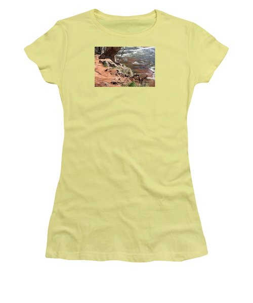 Women's T-Shirt (Junior Cut) featuring the photograph Arizona Red Water by Debbie Hart