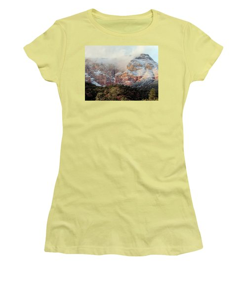 Arizona Snowstorm Women's T-Shirt (Junior Cut) by Judy Wanamaker