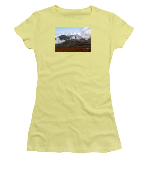 At The Rim Of The Crater Women's T-Shirt (Junior Cut) by Patricia Griffin Brett