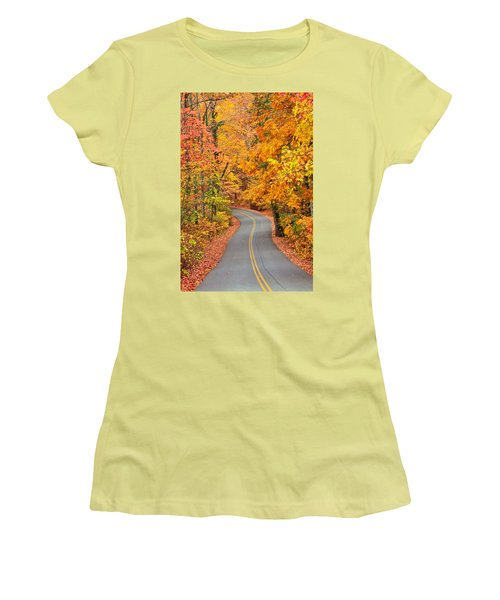 Autumn Drive Signal Mountain Women's T-Shirt (Athletic Fit)