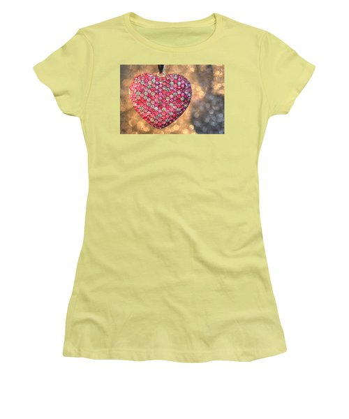Bedazzle My Heart Women's T-Shirt (Athletic Fit)