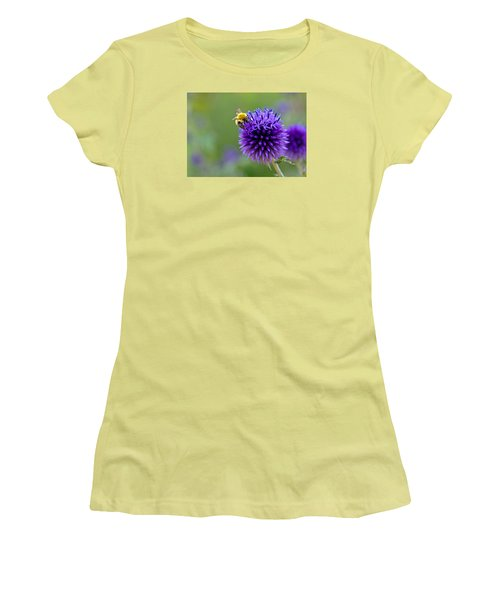 Bee On Garden Flower Women's T-Shirt (Athletic Fit)