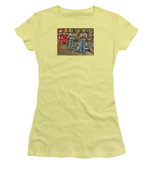Women's T-Shirt (Junior Cut) featuring the photograph Big Wrenches by William Fields