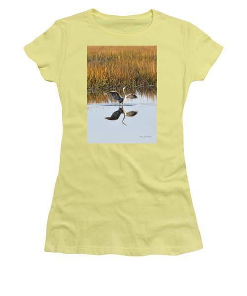 Bird Dance Women's T-Shirt (Junior Cut) by Kay Lovingood