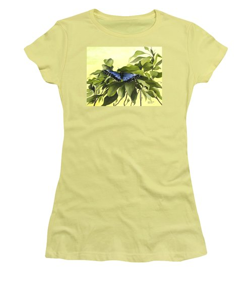 Blue Butterfly Of Branson Women's T-Shirt (Athletic Fit)