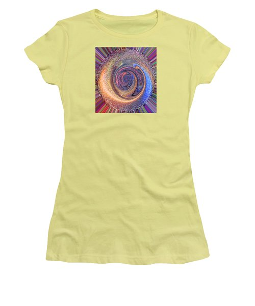 Candy Stripe Planet Women's T-Shirt (Athletic Fit)