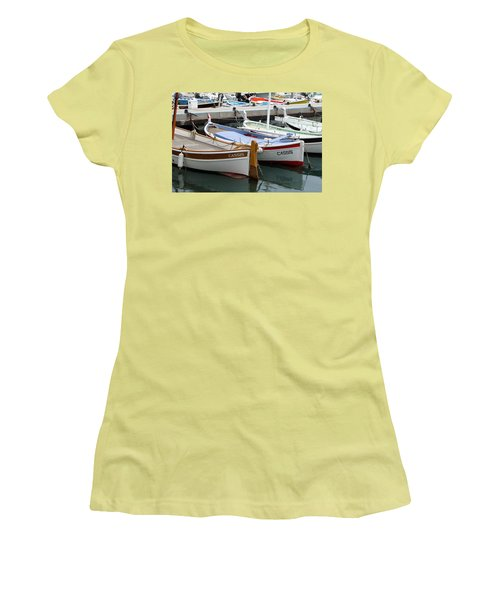 Cassis Harbor Women's T-Shirt (Junior Cut) by Carla Parris