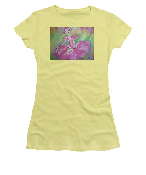 Christmas Ballerina Women's T-Shirt (Junior Cut) by Judith Desrosiers