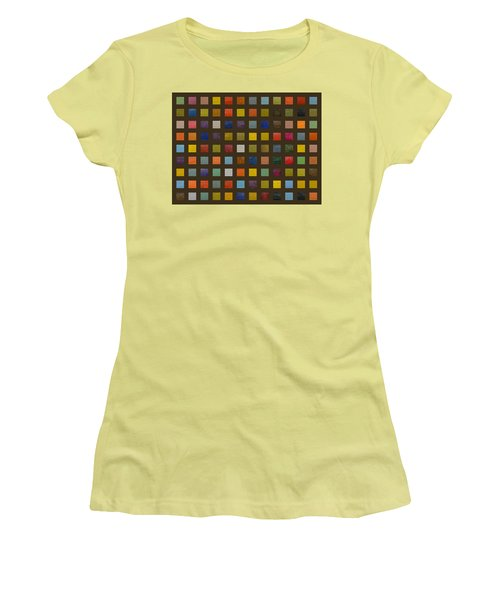 Collage Color Study Lll Women's T-Shirt (Athletic Fit)