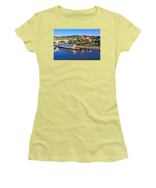 Coolidge Park During River Rocks Women's T-Shirt (Athletic Fit)