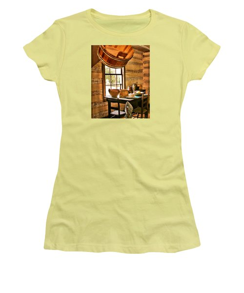 Women's T-Shirt (Junior Cut) featuring the digital art Country Kitchen by Mary Almond