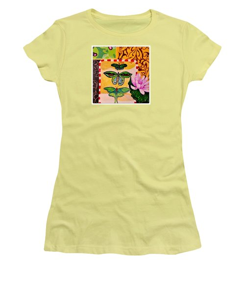 Oil Collage Women's T-Shirt (Athletic Fit)