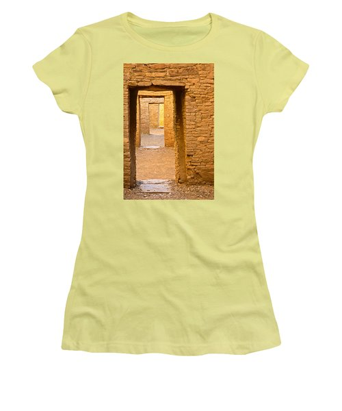 Doorway Chaco Canyon Women's T-Shirt (Athletic Fit)
