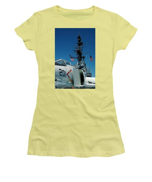 F4-phantom On The Deck Women's T-Shirt (Athletic Fit)