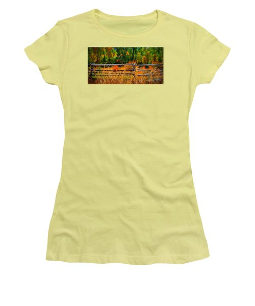 Women's T-Shirt (Junior Cut) featuring the photograph Fall  by Janice Westerberg