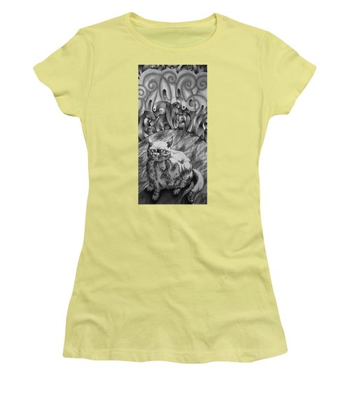 Fat Cat Fur Ball Women's T-Shirt (Athletic Fit)