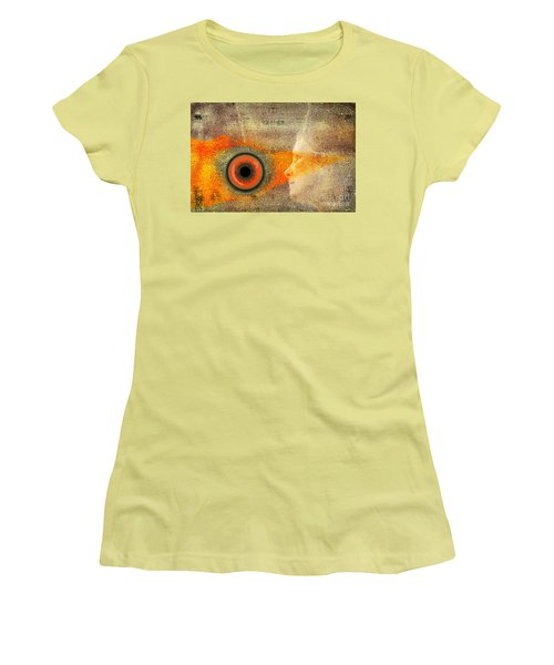 Women's T-Shirt (Junior Cut) featuring the digital art Fire Look by Rosa Cobos