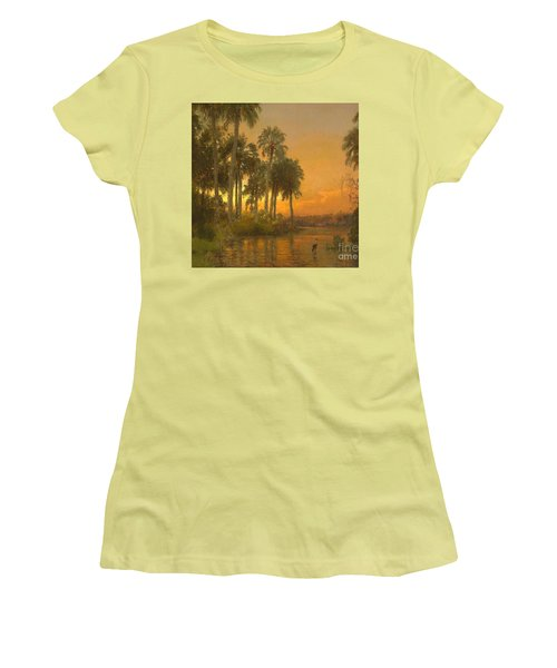 Florida Sunset Women's T-Shirt (Junior Cut) by Pg Reproductions