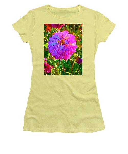 Fuchsia Delight Women's T-Shirt (Junior Cut) by Ken Stanback
